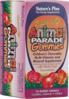 Nature's Plus Children's Animal Parade Assorted Gummies Multi-Vitamin and Mineral Suppliment - 75 ct