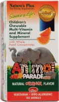 Nature's Plus  Animal Parade® Children's Chewable Multi-Vitamin and Mineral   Natural Orange - 180 Chewables