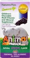 Nature's Plus Animal Parade Children's Grape Chewable Multi Vitamin & Mineral Supplement 180 Count
