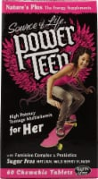 Nature's Plus  Source of Life® Power Teen® for Her Chewable Multi-Vitamin   Wild Berry - 60 Tablets
