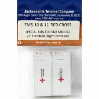 Jacksonville Terminal JTCFMS10&11 N 20 ft. Standard Height Containers, American Red Cross Spe - 1