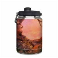 DecalGirl YHG-FOXSUN Yeti Rambler 0.5 gal Jug Skin - Fox Sunset