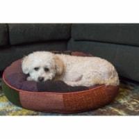 Barking Royals 26-1013-MD-CC Happy Round Dog Bed, Medium - 1