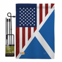 Breeze Decor BD-FS-GS-108390-IP-BO-D-US16-BD 13 x 18.5 in. US Scotland Friendship Flags of th