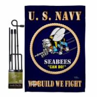 Breeze Decor BD-MI-GS-108071-IP-BO-D-US12-BD 13 x 18.5 in. Sea Bees Americana Military Impres