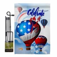 Breeze Decor BD-FJ-GS-111078-IP-BO-D-US17-BD 13 x 18.5 in. July 4th Hot Air Balloon Americana - 1