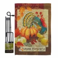 Breeze Decor BD-HA-GS-113070-IP-BO-D-US18-SB 13 x 18.5 in. Autumn Blessings Turkey Fall Harve - 1