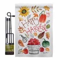 Breeze Decor BD-HA-GS-113073-IP-BO-D-US18-WA 13 x 18.5 in. Happy Harvest Fall & Autumn Vertic