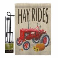 Breeze Decor BD-HA-GS-113075-IP-BO-D-US18-WA 13 x 18.5 in. Hay Rides Fall Harvest & Autumn Ve - 1