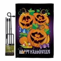 Breeze Decor BD-HO-GS-112049-IP-BO-D-US09-BD 13 x 18.5 in. Happy Pumpkins Fall Halloween Vert - 1