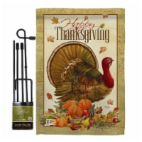 Breeze Decor BD-TG-GS-113049-IP-BO-D-US12-AM 13 x 18.5 in. Thanksgiving Turkey Fall Vertical - 1