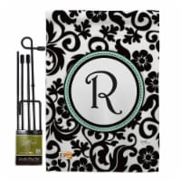 Breeze Decor BD-SB-GS-130070-IP-BO-D-US09-BD 13 x 18.5 in. Damask R Initial Interests Simply