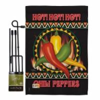 Breeze Decor BD-VG-GS-117031-IP-BO-D-US13-BD 13 x 18.5 in. Chili Peppers Food Vegetable Impre - 1