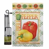 Breeze Decor BD-VG-GS-117040-IP-BO-D-US17-AM 13 x 18.5 in. Bell Pepper Food Vegetable Impress
