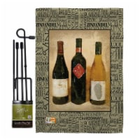 Breeze Decor BD-WI-GS-117043-IP-BO-D-US17-AM 13 x 18.5 in. 3 Wine Bottles Happy Hour & Drinks - 1