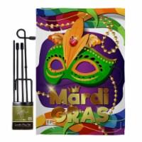 Breeze Decor BD-MG-GS-118011-IP-BO-D-US17-BD 13 x 18.5 in. Mardi Gras Mask Spring Impressions - 1