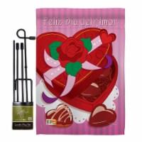 Breeze Decor BD-VA-GS-101045-IP-BO-D-US09-BD 13 x 18.5 in. Feliz Dia Del Amor Spring Valentin - 1