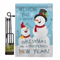 Breeze Decor BD-XM-GS-114146-IP-BO-D-US17-BD 13 x 18.5 in. Snowman Wishing You Winter Christm