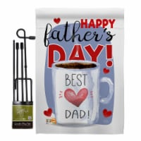 Breeze Decor BD-FD-GS-115135-IP-BO-D-US18-BD 13 x 18.5 in. Happy Best Dad Day Summer Fathers