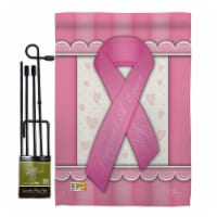 Breeze Decor BD-ST-GS-115086-IP-BO-D-US13-BD 13 x 18.5 in. Support A Cure Inspirational Impre