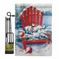 Breeze Decor BD-WT-GS-114193-IP-BO-D-US18-WA 13 x 18.5 in. Red Chair in Winter Wonderland Imp