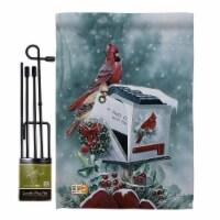 Breeze Decor BD-XM-GS-114096-IP-BO-D-US12-AL 13 x 18.5 in. Christmas Cardinals Winter Impress