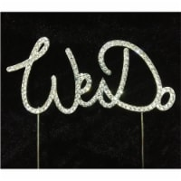 Tian Sweet 33014-WD We Do Rhinestone Cake Topper - Silver