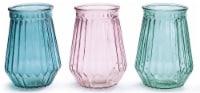 burton + BURTON Assorted Spring Colors Ribbed Vase