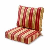 Greendale Home Fashions Deep Seat Outdoor Furniture Cushion Set, Roma Stripe - 1 Piece