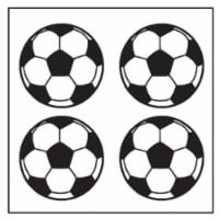 Creative Shapes Etc SE-2627 2 x 8 in. Large Incentive Stickers, Soccer - Pack of 1728 - 1