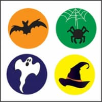 Creative Shapes Etc SE-2657 2 x 8 in. Large Incentive Stickers, Halloween - Pack of 1728