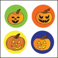 Creative Shapes Etc SE-2658 2 x 8 in. Large Incentive Stickers, Carved Pumpkins - Pack of 172 - 1