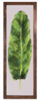 Crystal Art Watercolor Palm Painting with Wood Frame - Green/Brown