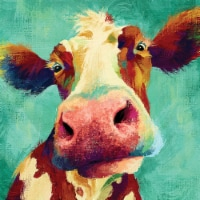 Crystal Art Gallery Humor Cows Canvas