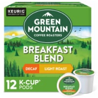 Green Mountain Coffee Decaf Breakfast Blend Light Roast Coffee K-Cup Pods