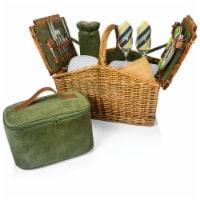 Somerset Picnic Basket, Sage Green