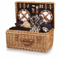Windsor Picnic Basket, Navy Blue