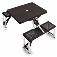 Picnic Table Portable Folding Table with Seats, Black