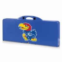 Kansas Jayhawks - Picnic Table Portable Folding Table with Seats