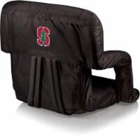 Stanford Cardinal Ventura Portable Reclining Stadium Seat - Black