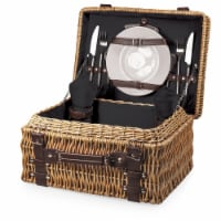 Champion Picnic Basket, Black with Brown Accents