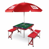 New York Giants - Picnic Table Folding Table with Seats and Umbrella