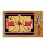 Louisville Cardinals - Icon Glass Top Cutting Board & Knife Set