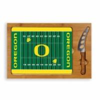 Oregon Ducks - Icon Glass Top Cutting Board & Knife Set - 15.4 x 10.04 x 0.8