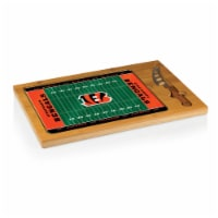 Cincinnati Bengals - Icon Glass Top Cutting Board & Knife Set