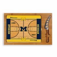 Michigan Wolverines - Icon Glass Top Cutting Board & Knife Set
