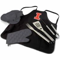 Illinois Fighting Illini - BBQ Apron Tote Pro Grill Set