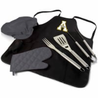 App State Mountaineers - BBQ Apron Tote Pro Grill Set - 1 x 24 x 29