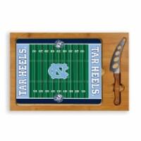 North Carolina Tar Heels - Icon Glass Top Cutting Board & Knife Set - 15.4 x 10.04 x 0.8