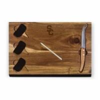 USC Trojans - Delio Acacia Cheese Cutting Board & Tools Set